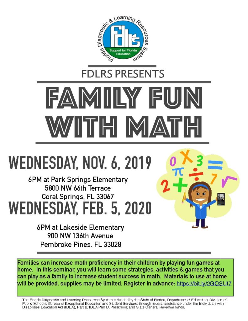 Family Fun with Math Flyer